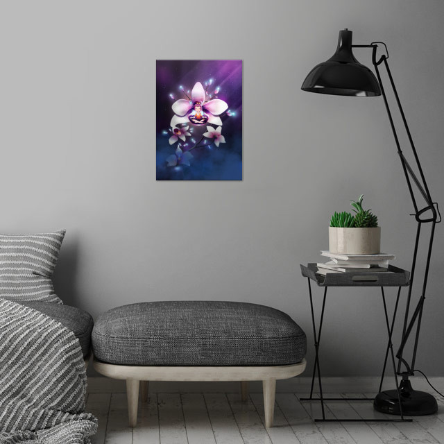 Orchid Meditation | Digital Art, 2018 wall art is showcased in interior