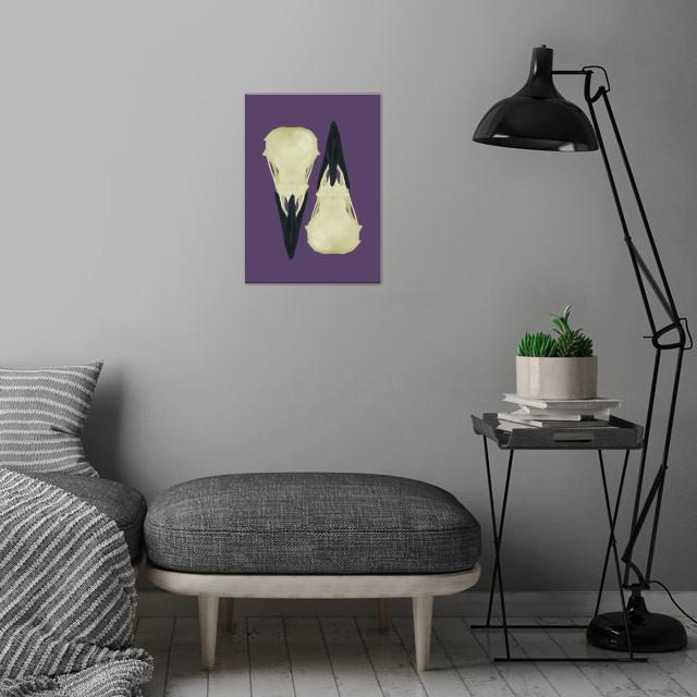 Raven Skulls wall art is showcased in interior