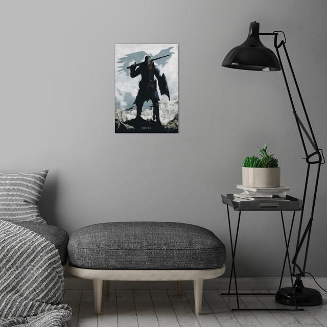 Chosen Undead wall art is showcased in interior