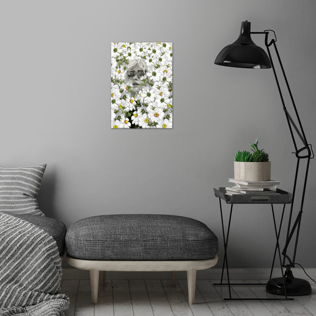 may the days be aimless wall art is showcased in interior