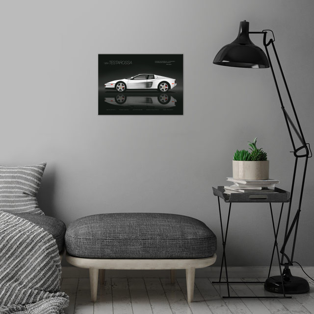 Testarossa Black Edition wall art is showcased in interior