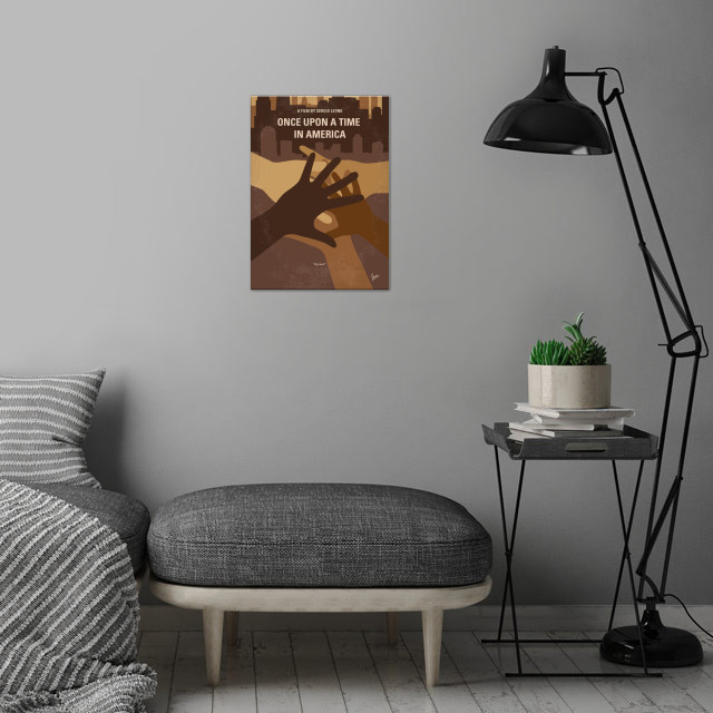 No942 My Once Upon a Time in America minimal movie wall art is showcased in interior