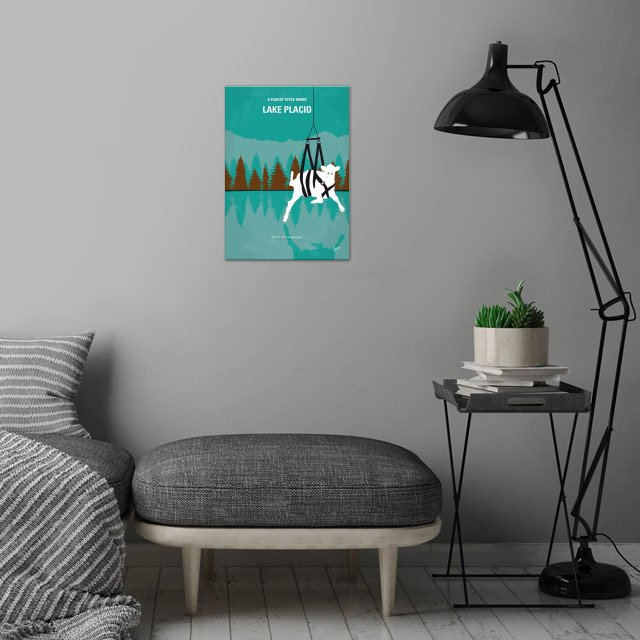 No944 My Lake Placid minimal movie poster wall art is showcased in interior