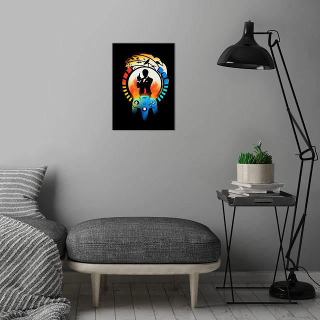 Golden Eye wall art is showcased in interior