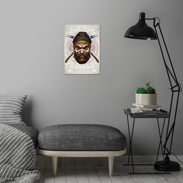 Burebista wall art is showcased in interior