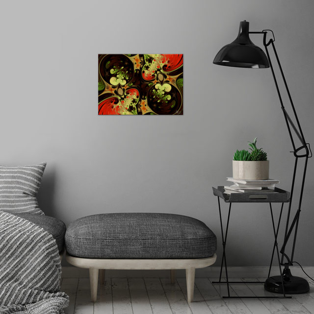 Autumn Love wall art is showcased in interior