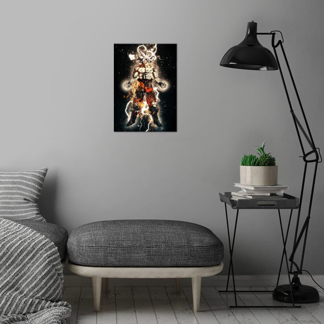 goku wall art is showcased in interior