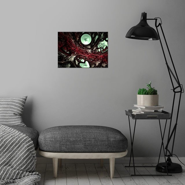 Bloody Wars wall art is showcased in interior