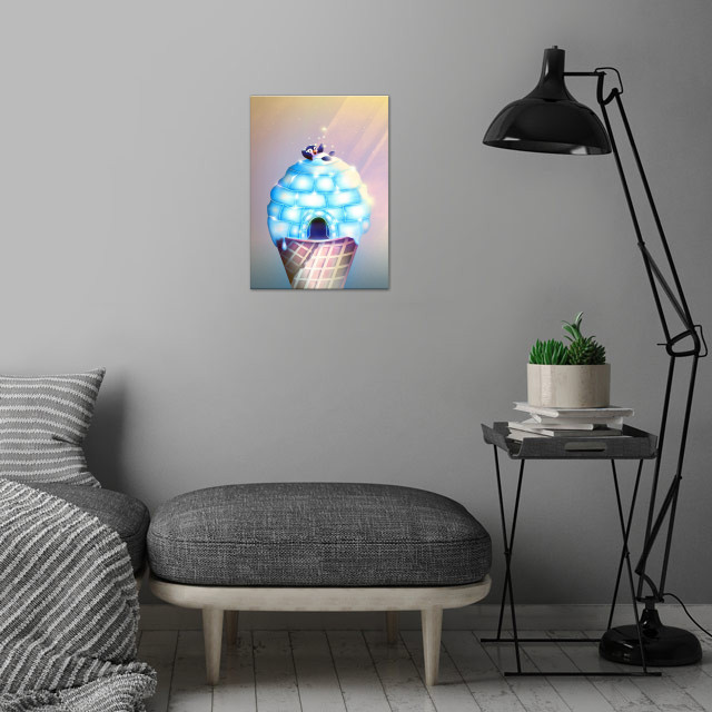 Igloo Flavour | Digital Art, 2018 wall art is showcased in interior