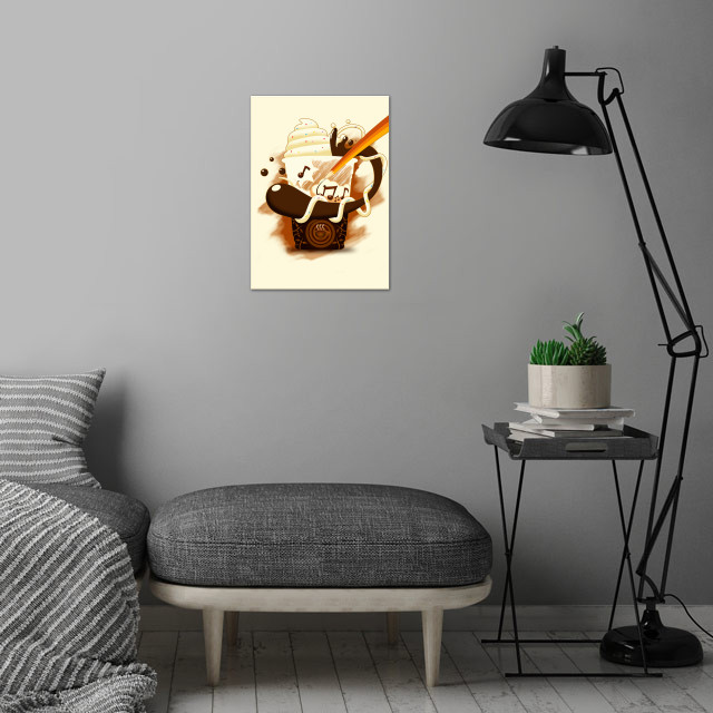 Happiness wall art is showcased in interior
