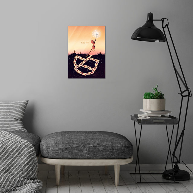 Less is More | Digital Art, 2018 wall art is showcased in interior