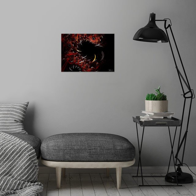 Dragon Smile wall art is showcased in interior