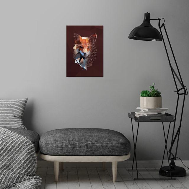 Fox - sketch wall art is showcased in interior