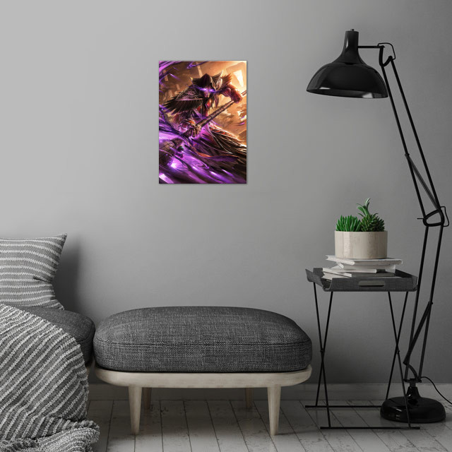 Medivh wall art is showcased in interior