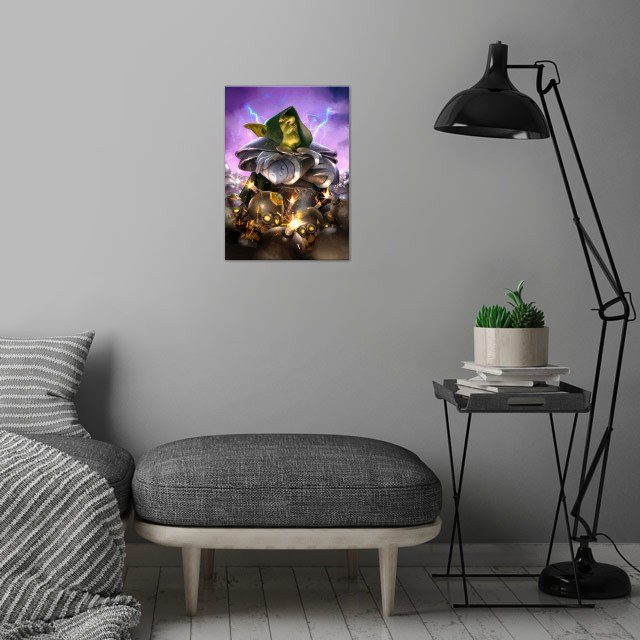 Dr. Boom wall art is showcased in interior