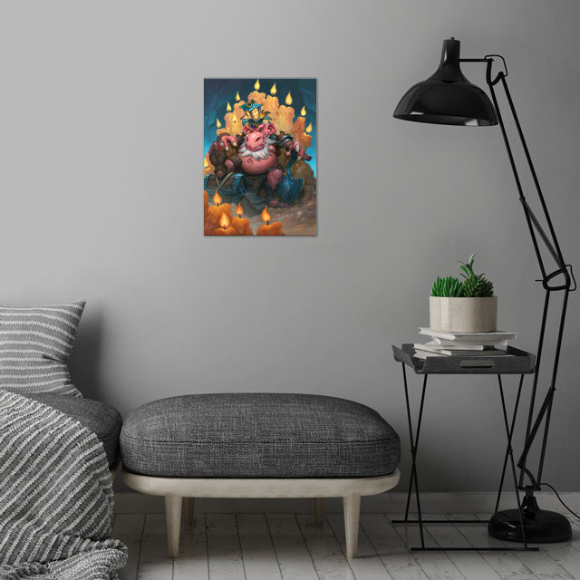 King Togwaggle wall art is showcased in interior