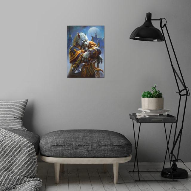 Genn Greymane wall art is showcased in interior