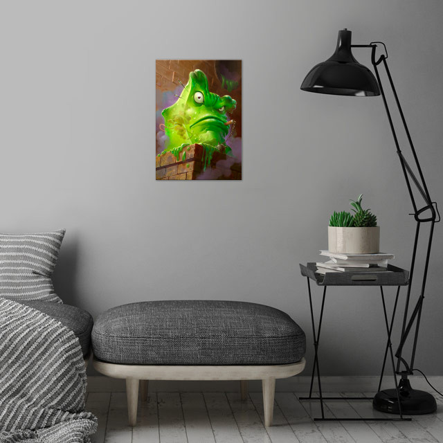 Carnivorous Cube wall art is showcased in interior