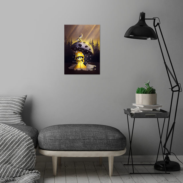 Rain Drops | Digital Art, 201 wall art is showcased in interior