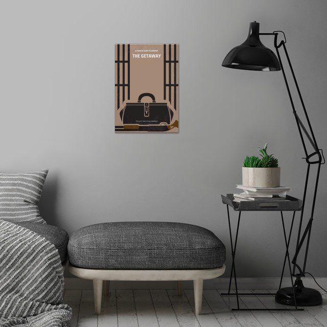 No952 My The Getaway minimal  wall art is showcased in interior