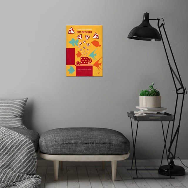 No953 My OUT OF SIGHT minimal wall art is showcased in interior