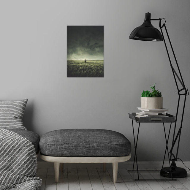 Field of the Lonely One wall art is showcased in interior