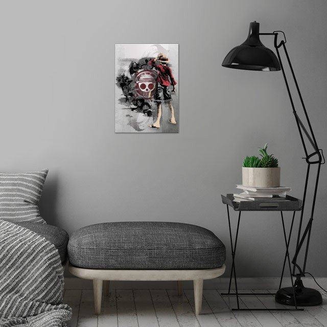 Straw Hats  wall art is showcased in interior