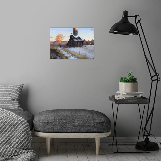 Another ordinary sunset wall art is showcased in interior