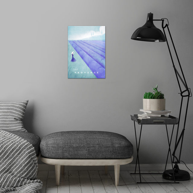 Provence wall art is showcased in interior