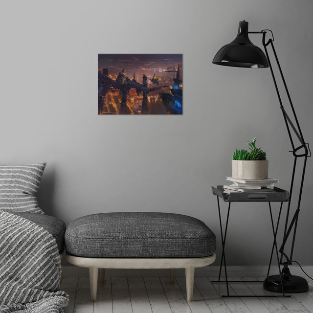 2077 wall art is showcased in interior