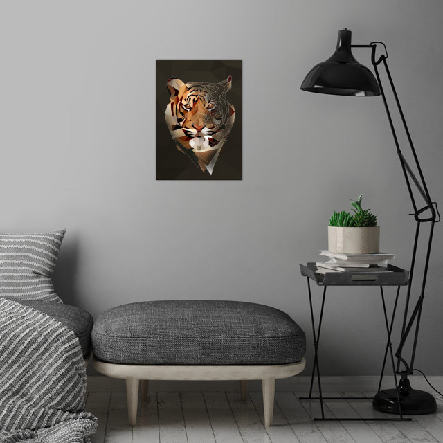 Wild Tiger wall art is showcased in interior