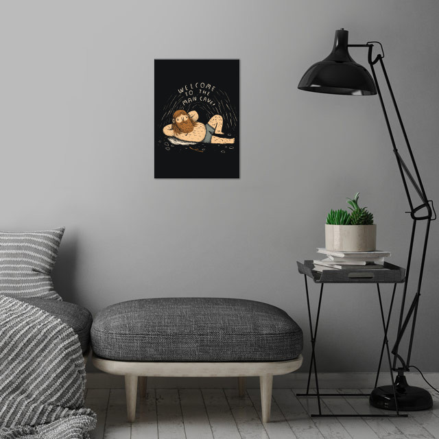 man cave wall art is showcased in interior