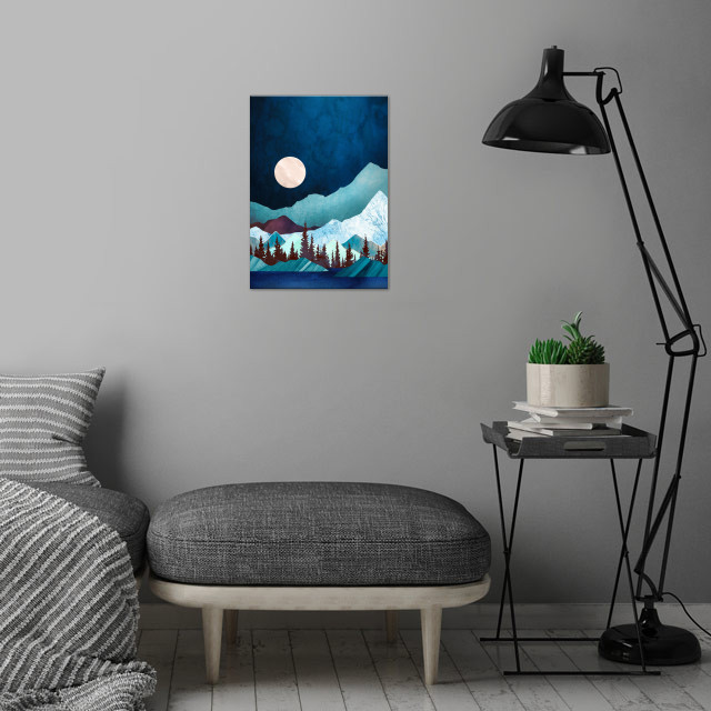 Moon Bay wall art is showcased in interior