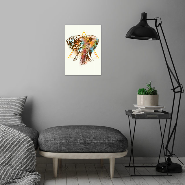 EleFunk wall art is showcased in interior