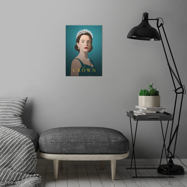 Claire Foy The Crown wall art is showcased in interior