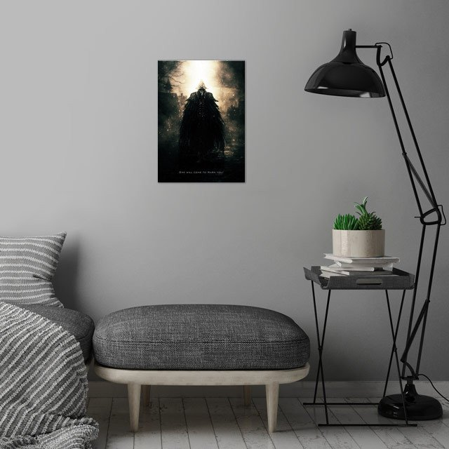 Eileen the Crow wall art is showcased in interior