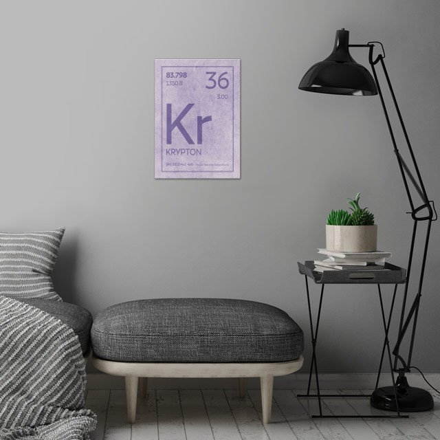 Krypton Chemical Symbol By Design Turnpike Metal Posters Displate