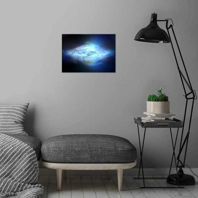 Abstract Blue ghost  wall art is showcased in interior