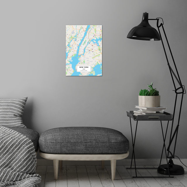 NEW YORK wall art is showcased in interior