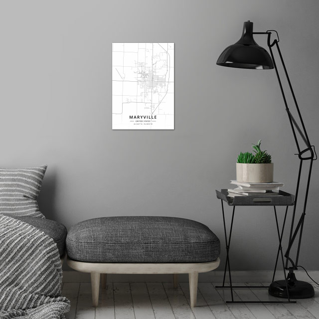 Maryville, United States wall art is showcased in interior