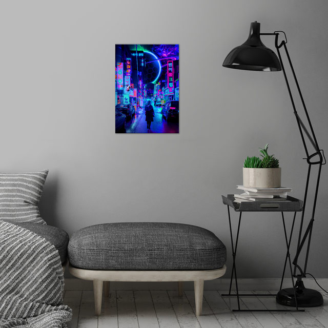 2077 shot by Steven Roe wall art is showcased in interior