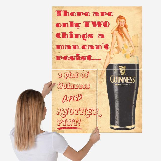 Guinness by Fernando Vieira   metal posters - Displate