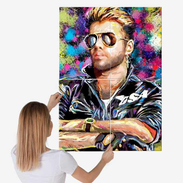 George Michael Metal 80s Art Poster