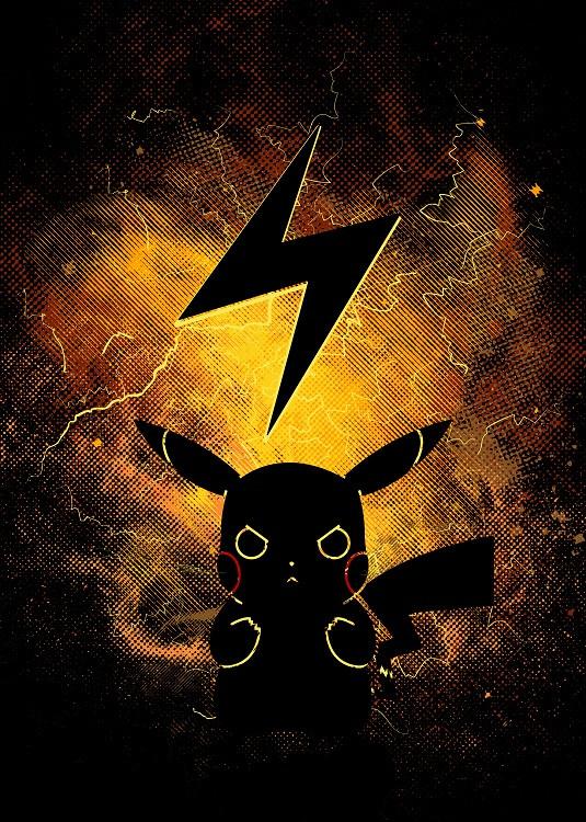 anime poster pikachu