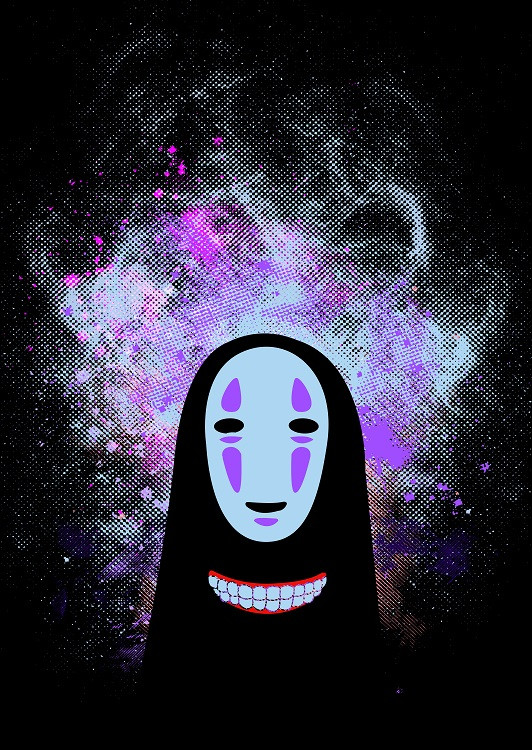 anime poster noface