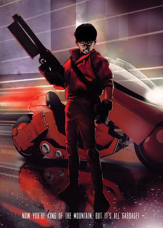 anime poster biker