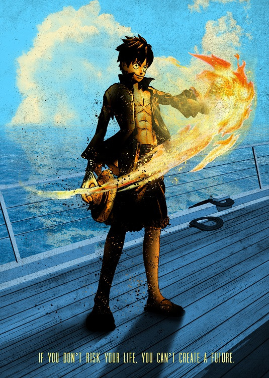anime poster pirate boy