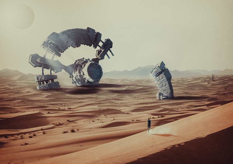 Concept Art Desert Tower