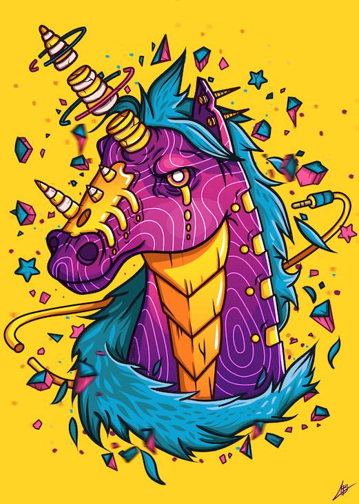 colorful unicorn