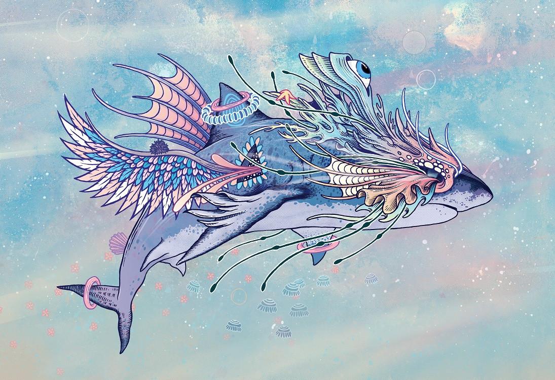psychedelic shark